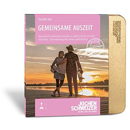 Jochen Schweizer Hotel-Gutschein 'GEMEINSAME AUSZEIT FÜR 2', 160 Hotels, 1 Übernachtung für 2 Personen inkl. Frühstück und Abendessen, Geschenk für Paare