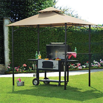 Garden Winds BBQ Pavillon, Bambus-Optik