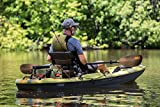 "Pelican Boats - PS1131 -SYMBOSIA Angler Fishing Lightweight Fiberglass Kayak Paddle - Built-in Retrieval Hooks - 94.5-99"", Camouflage/Black"