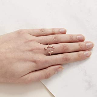 Olivia Burton Women'S Brass Rose Gold Rings -OBJ16BBR01