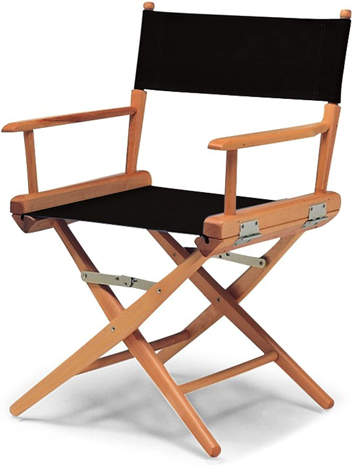 Telescope Casual 60305C01 World Famous Dining Height Director Chair, Black with Varnish Frame