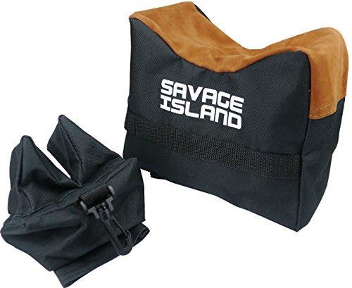 Savage Island Banco de Tiro para Armas de Aire comprimido y Rifles Soporte de Apoyo Arma de Disparo - Negro
