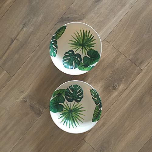 N/A. NALUNA-Set 2 Cuencos Reutilizables de bambú, vajilla ecológica, vajilla Camping, vajillas de Platos