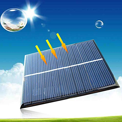Xatan Mini Solar Panel Solarmodul DIY Batterie Solarzelle Ladegerät zur Aufladung in Verschiedenen Mustern(6V/1.1W/200mA) (6V/1.1W/200mA)