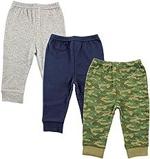 Luvable Friends Unisex Baby Cotton Pants, Camo, 12-18 Months