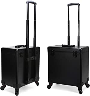 Portable Hairdressing Toolbox Trolley case with Lock, Mute Universal Wheel That can Rotate 360 °, Telescopic Handle Corrosion-Resistant, Suitable for Makeup Artists