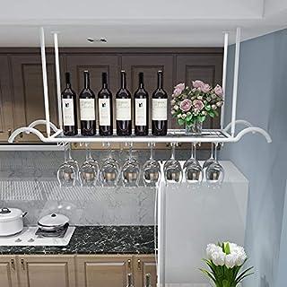Ybzx Style européen Fer métal Plafond Style Verres à vin Organisateur Support de Verres à Pied pour accrocher des flûtes à...