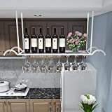 AERVEAL European Style Iron Metal Ceiling Style Wine Glasses Organizer Stemware Holder to Hang Cocktail or Champagne Flutes for Kitchen, Bar, Pubs or Restaurants Rack,#3,100Cm (39.4In)