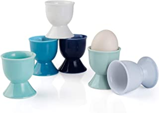 Sweese 805.003 Porcelain Egg Cups, Egg Holders for Hard Boiled Eggs – Set of 6,..