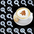 Stylish Chic 16 Pieces Coffee Machine Barista Stencils…