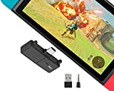 QY Bluetooth 5.0 Audio Adapter Transmitter with USB C Connector Built-in Digital Mic APTX Low Latency for Nintendo Switch Compatible with Sony PS4 and Bluetooth Headphones