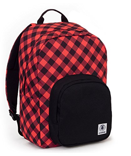 ZAINO INVICTA - OLLIE PACK FANTASY - Nero - Rosso - tasca porta pc padded - americano 25 LT