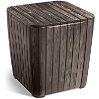 Keter Luzon Flexitone Brown Wood Look Side Table