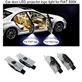 special auto accessories 2pcs coche llevó la cortesía Luces logo Puerta proyector de luz LED de la sombra del fantasma de 500X de coches Fiat 500X Para la insignia FIAT