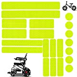 Reflective Stickers 21PCS Waterproof Adhesive Decals for Motorcycle, Helmets, Bicycles, Strollers, Wheelchairs, Racing Car, Truck, Scooter, Badge, Toys, Door, Window, Night Visibility Safety (Yellow)