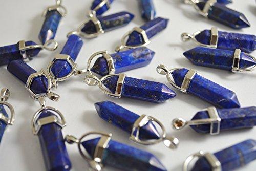 ビーズクラブ 天然石 ラピスラズリ ペンダントトップ 銀 金具付 33mm 2個 パワーストーン ラピス 青 ブルー