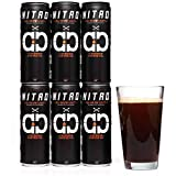 Nitro Cold Brew Coffee, Equals 3 Shots of Espresso, Sugar Free, Keto, Paleo Friendly, Pre-Workout Drink, No Refrigeration Required, South American Single Origin, Low Acidity, Tall 11.5 oz Cans, 6 Pack