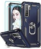 LeYi Funda Huawei P40 Lite 5G con 2-Unidades Cristal Vidrio