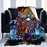 Kaopey Five Nights at Freddy's Oversized Throw Blanket Lightweight Cozy Microfiber Super Soft Blanket for Couch Or Bedroom Or Living Room