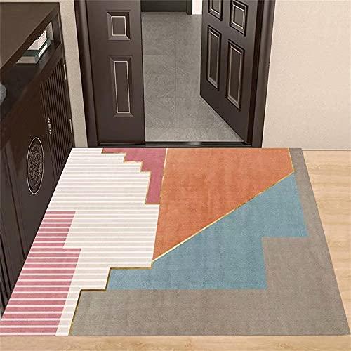 Alfombra habitacion Marrón Alfombra de la Sala de Estar Marrón Geométrico Patrón Abstracto Soft Alfombra Duradera alfombras Dormitorio Matrimonio 200x300cm alfonbras de Salon 6ft 6.7''X9ft 10.1''