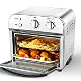 Geek Chef Convection Air Fryer Toaster Oven, 4 Slice Toaster Airfryer Countertop Oven, Roast, Bake, Broil,Reheat,Fry Oil-Free, Accessories & Recipes Included