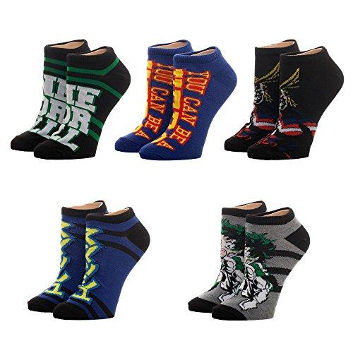 Juniors My Hero Academia 5 Pack Ankle Socks - Izuku Midoriya & All Might