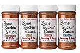 BONE SUCKIN' BBQ Rubs and Spices for Smoking - Grilling Spices and Meat Rub - BBQ Spice Seasoning Sauces - Smoker Seasoning Rubs Gift - Dry Rubs Smoking Seasonings 5.8oz Pack of 4 Gluten free - Kosher