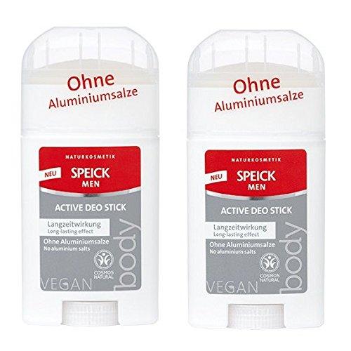 SPEICK Men Active Deo Stick 2er-Pack (2x 40ml) (bio, vegan, Naturkosmetik) Deodorant für Männer Stick x2