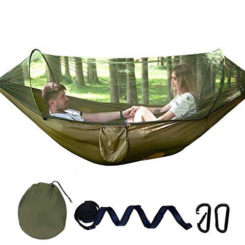 Hamaca para Acampar, Carpa portátil para Acampar Doble Carga de Hamaca de Viaje 250 kg 270 * 140 cm Material Paracaídas en Nylon Transpirable y seco
