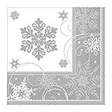 Amscan International 511559 - Tovagliolo con stampa LN Low CT con fiocco di neve scintillante