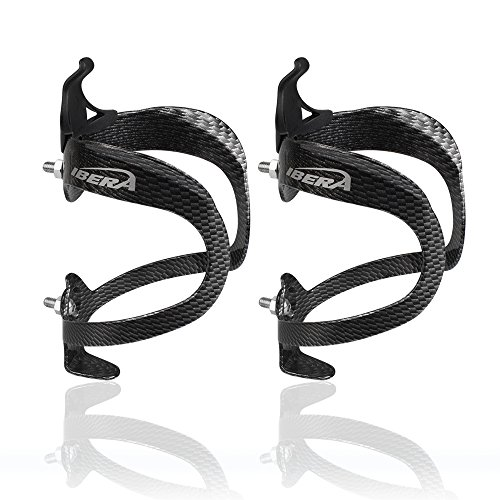 Ibera Bicycle Lightweight Aluminum Water Bottle Cage (Carbon Pattern(Pair))