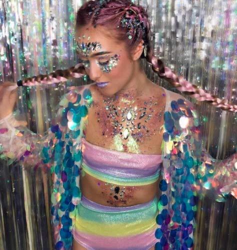 10 macetas de fiesta para dama de honor, con purpurina de arco iris, unicornios, sirenas, fiesta, Halloween, cosplay, Reino Unido
