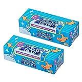 驚異の防臭袋 BOS (ボス) うんちが臭わない袋 2個セット ペット用 うんち 処理袋【袋カラー:ブルー】 (Mサイズ 90枚入)