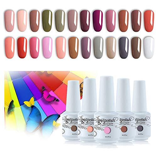 Vishine 24 Colors Gift Set Gel Nail Polish Kit Soak Off UV LED Nail Gel...