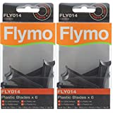Flymo Genuine <span class='highlight'>Hover</span> Vac <span class='highlight'>Lawn</span>mower Blade Plastic Cutter (Pack of 12, FLY014)