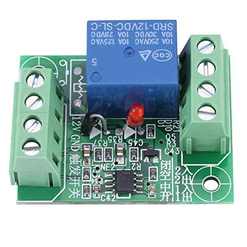 Weikeya - Relé bistable DC12V, tarjeta de circuito impreso de estado estable con relé de conmutación en oro, estado estable típico