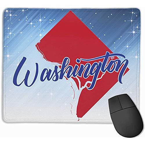 Washington DC Rectángulo Alfombrilla de Goma Antideslizante Alfombrilla de ratón para Juegos