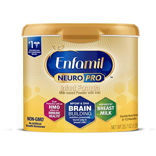 Enfamil NeuroPro Baby Formula, Brain and Immune Support with DHA, Iron and Prebiotics, Infant formula Inspired by Breast Milk, Non-GMO, Reusable Tub,...