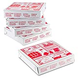 10' Length x 10' Width x 2' Depth Lock Corner Clay Coated Thin Pizza Box by MT Products (10 Pieces)
