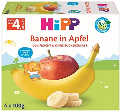 Hipp Bio Früchte im Becher Banane in Apfel, 6er Pack (6 x 100 g)