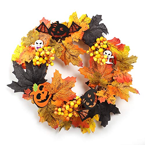 ANYIKE Halloween Pompoen Krans Decor voor Halloween Party Home, Voordeur, Muur, Mantelpiece, raamdecoratie