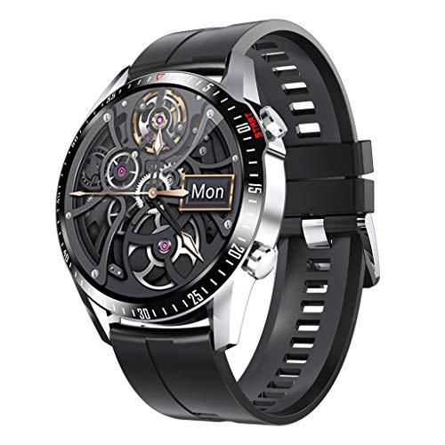 APCHY Reloj Inteligente Smartwatch GPS para Hombres,30 Llamadas Bluetooth,Seguidores De Actividades De Frecuencia Cardíaca,Presión Arterial, Pulsera Inteligente Deportiva, Medición De Temperatura,C