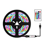 Tira de Luces LED de Control Remoto de 0,5 m Cinta Flexible cortable RGB...