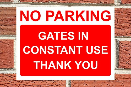 Private Road No Parking Aluminium Composite Sign 400mm x 270mm x 3mm Thick Red//White.