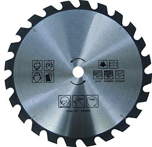 Hoja de sierra circular para madera – Ø 400 x 30 mm / 24 dientes   sierra circular de mano   HM – carburo   para sierra en madera   para sierra circular de mano