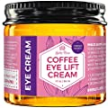 Coffee Eye Lift Cream by Leven Rose 100% Natural, Reduces Puffiness, Brightens Tired Eyes & Dark Circles, Anti Aging, Firming, Collagen Building, Deep Hydrating Wrinkle Creme 1 oz