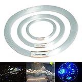 EgBert 100M Pmma Claro Plástico Fibra Óptica Cable Final Grow Led Luz Decor 0,75/1/1.5 Mm - 1.5 Mm