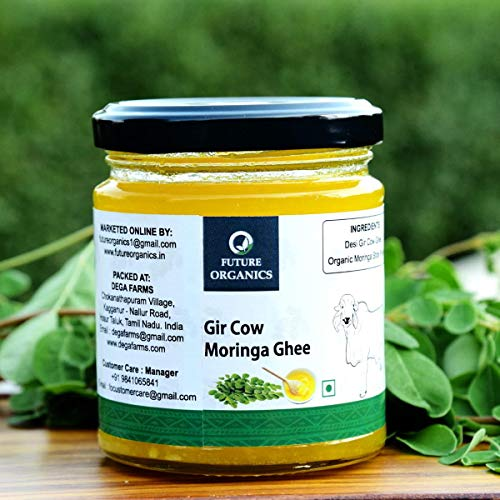 Future Organics Ghee -Desi Gir Cow Moringa - 175 ml, Made with 100% Natural Herbal Ingredients