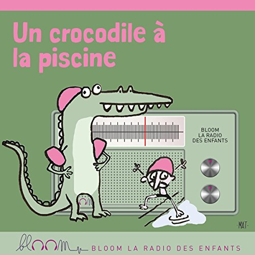 Un crocodile à la piscine cover art