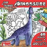 Livre de Coloriage Dinosaure Pour Enfants 6 ans +: Cahier de Coloriage Dinosaure Avec Des Faits Intéressants à Chaque Page | Livre A Colorier Sur Les ... Idéal Pour Garcon et Fille A Partir de 6ans
